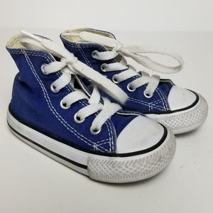 CONVERSE ALL STAR BLUE HIGH TOP SNEAKERS INFANT 5